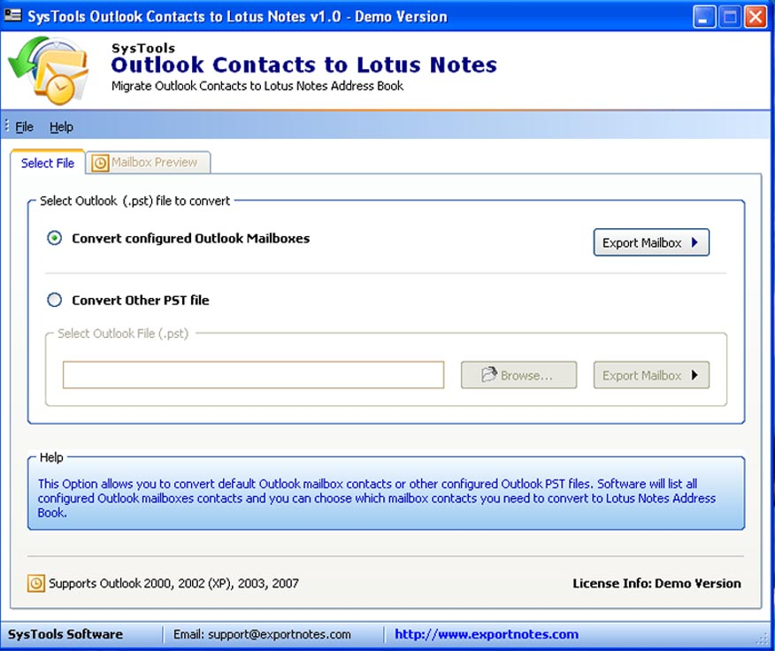 PST Contacts Converter converts PST to NSF